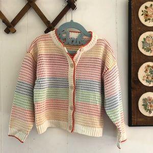 Esopkid • Rainbow Knit Cardigan